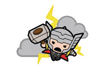 Image: Marvel Kawaii Pin: Ultimate Thor  - Popfun Merchandising LLC