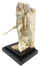 Image: Wonder Woman Fine Art Statue: Neo Classical Marble Finish  -