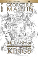 Image: George R.R. Martin's A Clash of Kings Vol. 02 #3 (incentive 1:20 cover - Rubi B&W) - Dynamite