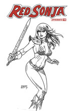 Image: Red Sonja Vol. 05 #14 (incentive 1:30 cover - Linsner B&W) - Dynamite