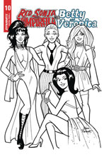 Image: Red Sonja and Vampirella Meet Betty and Veronica #10 (incentive 1:10 cover - Parent B&W)  [2020] - Dynamite