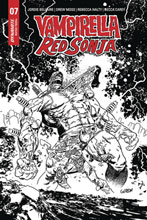 Image: Vampirella / Red Sonja #7 (incentive 1:15 cover - Gedeon B&W Zombie) - Dynamite