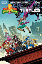 Image: Power Rangers / Teenage Mutant Ninja Turtles #4 (cover A - Mora) - Boom! Studios