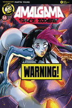 Image: Amalgama Space Zombie #6 (cover D - Rudetoons Reynolds risque) - Action Lab - Danger Zone