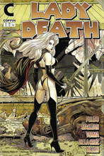 Image: Lady Death: Unholy Ruin #1 (variant cover - Damaged Homage edition) - Coffin Comics