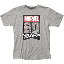 Image: Marvel Comics T-Shirt: 80 Years  (L) - Impact Merchandising