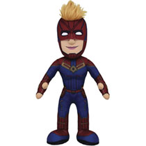 Image: Marvel Heroes Plush Figure: Captain Marvel  (10-inch) - Bleacher Creatures