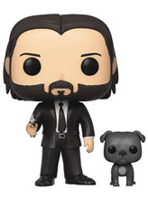 Image: Pop! Movies Vinyl Figure: John Wick - John in Black Suit  (w/Dog Buddy) - Funko