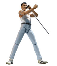 Image: Queen S.H.Figuarts Action Figure: Freddie Mercury  (Live Aid) - Tamashii Nations