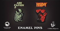 Image: Hellboy Hellboy & Abe Sapien 2-Pack Ltd ed. Enamel Pin 4-Piece Assortment  - Skelton Crew Studio, LLC