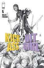 Image: Kick-Ass vs. Hit-Girl #5 (cover B - B&W Romita Jr.) - Image Comics