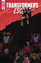 Image: Transformers Escape #4 (incentive 1:10 cover - Red Powell) - IDW Publishing