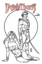 Image: Dejah Thoris: Winter's End One-Shot  (incentive 1:15 cover - Linsner B&W) - Dynamite