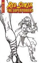 Image: Red Sonja: The Superpowers #3 (incentive 1:10 cover - Linsner B&W) - Dynamite