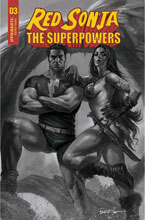 Image: Red Sonja: The Superpowers #3 (incentive 1:15 cover - Parrillo B&W) - Dynamite