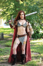 Image: Red Sonja: The Superpowers #3 (incentive 1:25 cover - Cosplay virgin) - Dynamite