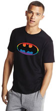 Image: Batman T-Shirt: Pride Symbol  (L) - Graphitti Designs