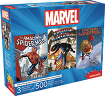 Image: Aquarius Marvel Puzzle: 3-in-1  (500-Piece) - Nmr Distribution America
