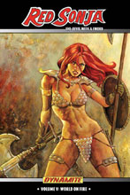 Image: Red Sonja: She-Devil With a Sword Vol. 05: World on Fire SC  - D. E./Dynamite Entertainment