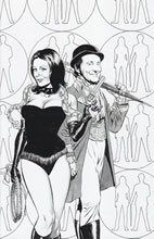 Image: Steed and Mrs. Peel #1 (20-copy Meyers B&W variant cover) - Boom! Studios