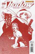 Image: The Shadow #6 (25-copy Chaykin blood red variant cover) - Dynamite