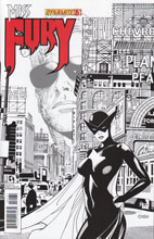 Image: Miss Fury #6 (50 Copy Chen B&W incentive cover) - Dynamite