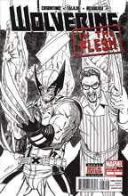 Image: Wolverine: In the Flesh #1 (variant 2nd printing Black & White cover - Tim Seeley)  [2013] - Marvel Comics