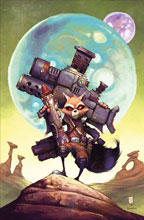Image: Rocket Raccoon by Skottie Young Poster  - Marvel Comics