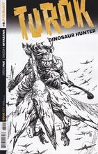 Image: Turok: Dinosaur Hunter #8 (variant incentive cover - Sears B&W) (10-copy) - Dynamite
