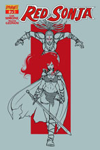 Image: Red Sonja #15 (Vieceli variant incentive cover - 15041) (25-copy) - Dynamite