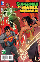 Image: Superman / Wonder Woman #21 (variant DCU cover - Green Lantern 75) - DC Comics
