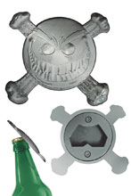 Image: Smiley Psychotic Button Bottle Opener  - Dynamite