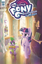 Image: My Little Pony: Friendship Is Magic #58 (incentive cover - Thom Zahler) (10-copy)  [2017] - IDW Publishing