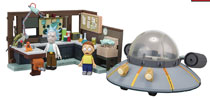 Image: Rick & Morty Spaceship Construction Set Case  - Tmp Toys / Mcfarlane's Toys