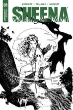Image: Sheena Queen of the Jungle #1 (Sook b&w incentive cover - 01071) (20-copy) - Dynamite