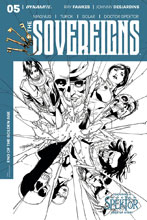 Image: Sovereigns #5 (cover E incentive - Segovia B&W) (10-copy)  [2017] - Dynamite