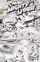 Image: Mighty Mouse #4 (Lima b&w incentive cover - 04031) (10-copy)  [2017] - Dynamite