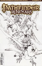 Image: Pathfinder: Runescars #5 (cover D incentive - B&W) (10-copy) - Dynamite