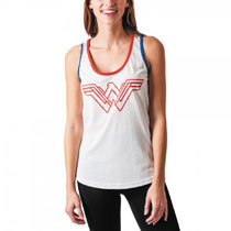 Image: DC Movie Wonder Woman Juniors: Warrior Tank [White]  (L) - Bioworld Merchandising