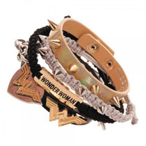 Image: DC Comics Wonder Woman Arm Party Bracelet Set  - Bioworld Merchandising
