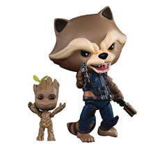 Image: Guardians of the Galaxy 2 EAA-049 Action Figure: Rocket w/Kid Groot  - Beast Kingdom Co., Ltd