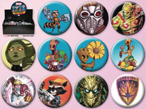 Image: Marvel Guardians of the Galaxy 144-Piece Button Assortment  - Ata Boy