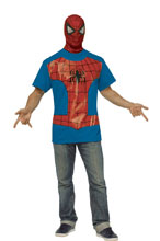 Image: Marvel T-Shirt w/Mask: Spider-Man  (XL) - Rubies Costumes Company Inc