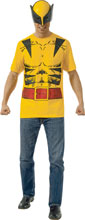 Image: Marvel T-Shirt w/Mask: Wolverine  (M) - Rubies Costumes Company Inc