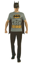 Image: DC T-Shirt w/Mask & Cape: Batman  (XL) - Rubies Costumes Company Inc