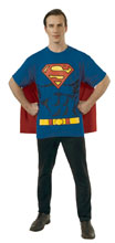 Image: DC T-Shirt w/Cape: Superman  (XL) - Rubies Costumes Company Inc