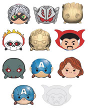 Image: Marvel Tsum Tsum Series 1 Cut Figural Keyring 24-Piece Blind Mystery Box Display  - Monogram Products