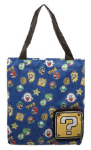 Image: Super Mario Brothers Packable Tote Bag  - Bioworld Merchandising