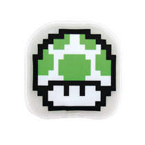 Image: Nintendo Cold Pack: 8-Bit 1-Up Green Mushroom  - Bumkins Finer Baby Products