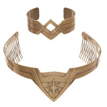 Image: DC Wonder Woman Movie Cosplay Set: Tiara & Bracelet  - Bioworld Merchandising